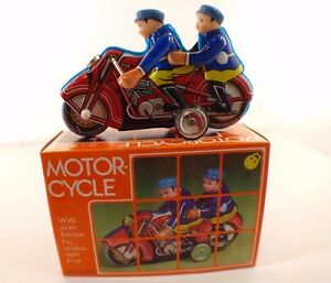 Mf 162 motorcycle tin toys friction motor made in china new mib
