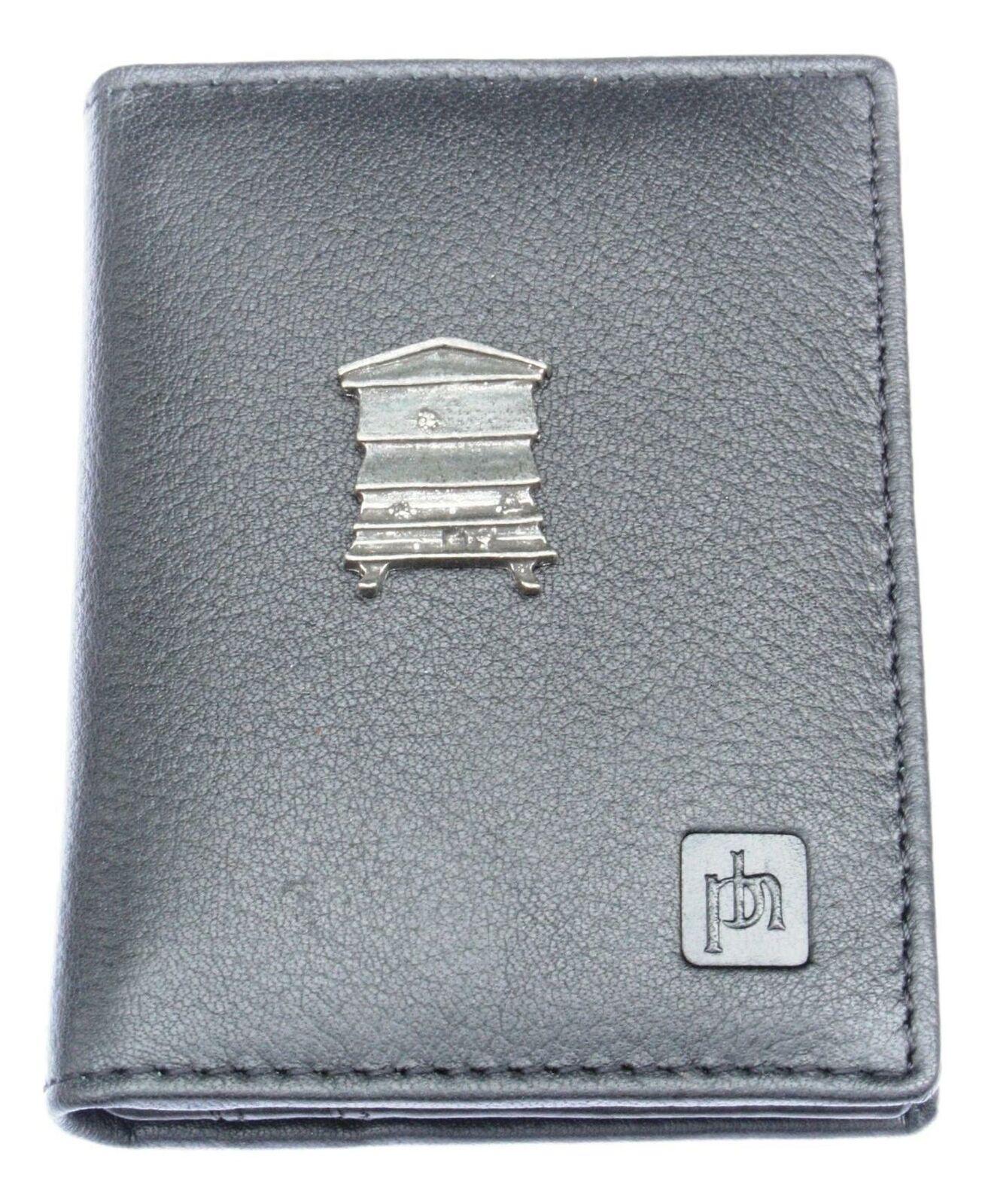 Bee Hive Bifold Card Holder Leather Black Wallet RFID Safe 29
