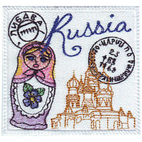 Russia Stamp Embroidered Patch