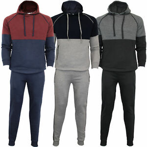 Mens-Tracksuit-Sweatshirt-Bottoms-Hooded-Fleece-Top-Joggers-Sports-Fashion-New
