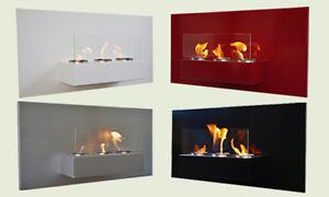 Bio Ethanol Gel Fireplace Rabea Deluxe Steel Wall Fire Place + ...