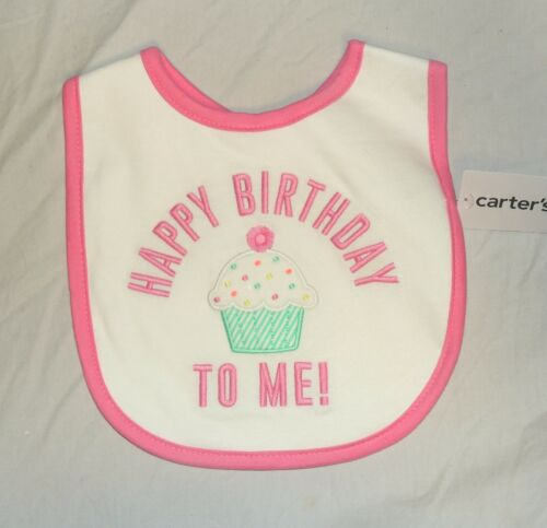 New Carters Baby My 1st Birthday Bib First Girl Happy Birthday to Me Pink