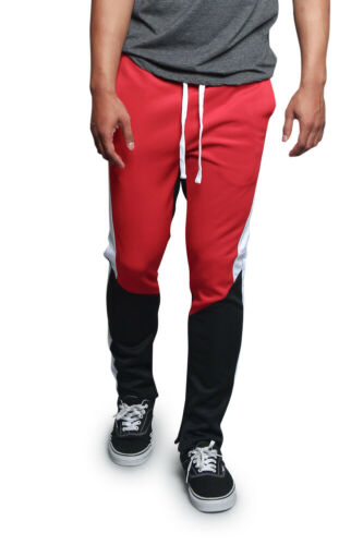 NWT Men/'s Contrast Drawstring Sports Workout Techno Trackpants TR587-DD12G