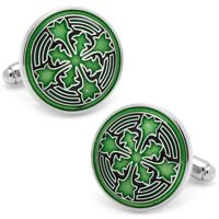 Firenze Petal Emerald Green Cufflinks L2 By Loma & Mint In Gift Box 40% Off