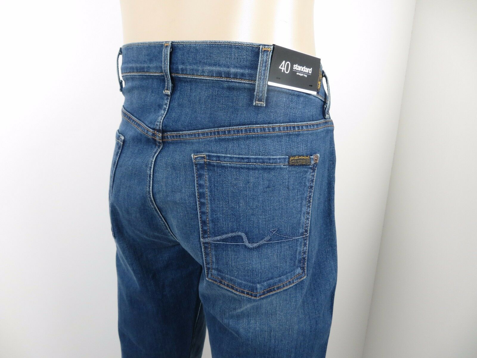 NWT 7 Seven For All Mankind Men's Jeans STANDARD STRAIGHT LEG,  MICC, Size 40