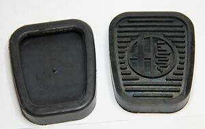 CLASSIC-ALFA-ROMEO-105-PEDAL-COVER-RUBBER-WITH-ALFA-LOGO-KIT-PAIR-BRAND-NEW