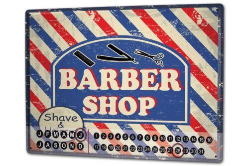 Dauer Wand Kalender Retro  Barber Shop Metall Magnet