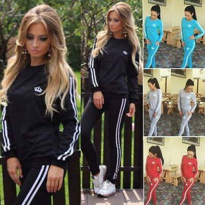 Damen Jogginganzug Trainingsanzug Pullover Sweatshirt Hose Fitness Sport Anzug