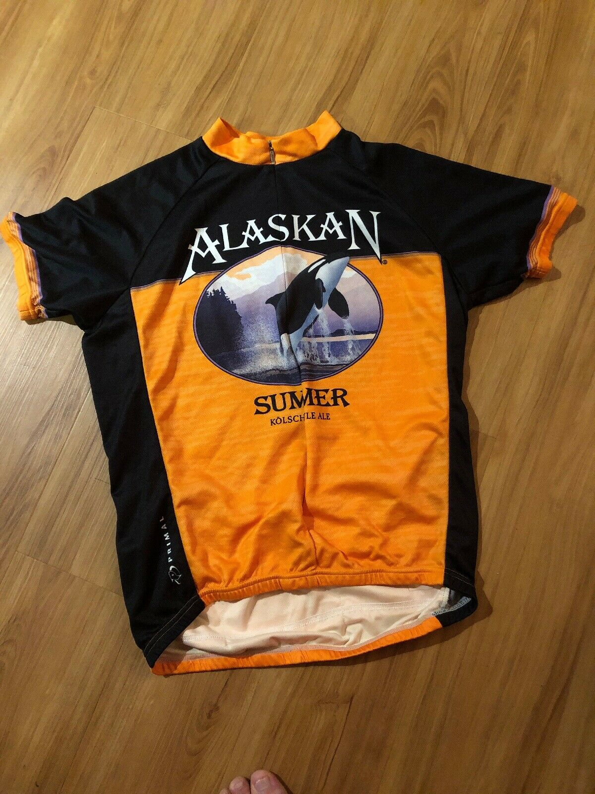 Primal Alaskan Summer Ale Cycling Jersey Mens Small