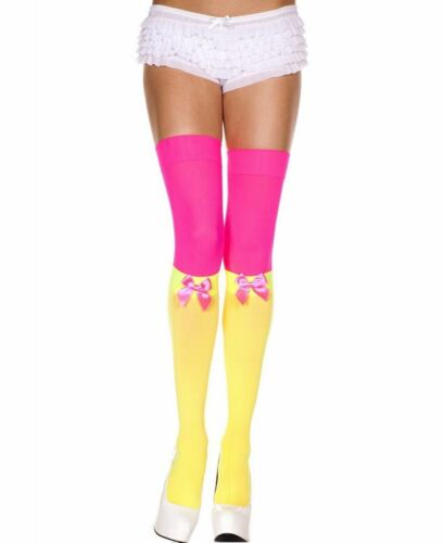 Thigh High Stockings And Socks With Satin Bow Music Legs 4620