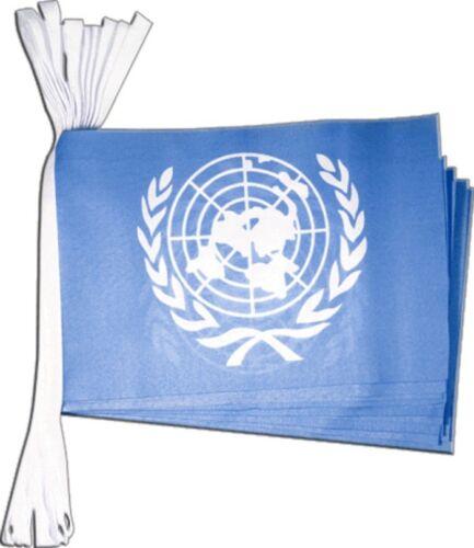 Fahnenkette Flaggenkette Girlande UNO Fahnen Flaggen 15x22cm