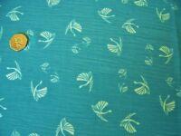 CRINKLE CHIFFON PRINT-FLYING PHEASANTS-JADE--DRESS FABRIC -FREE P+P
