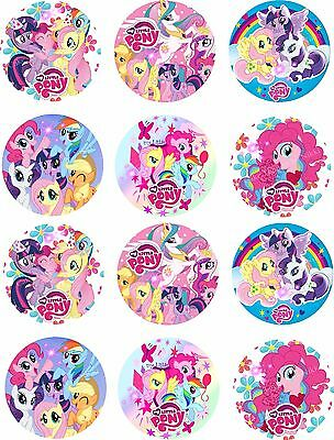 """1.5/"""" Precut Icing Cupcake Toppers My Little Pony 12 or 24 Rainbow Dash"""