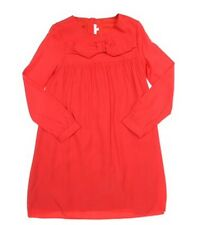 Chloe Girls Bow Front Detail Long Sleeved Dress Bright Red RRP £102