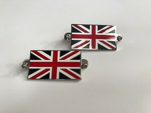 2-PLAQUES-EMAILLE-UNION-JACK-BADGE-A-VISSER