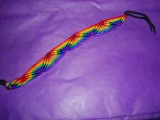 Gay Pride Rainbow Woven Bracelet New