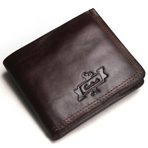 Men-039-s-RFID-Blocking-Genuine-Leather-Wallet-Multi-Card-High-Capacity-Bifold-Purse