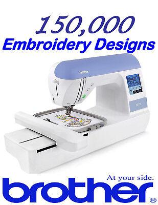 +150,000 PE Brother máquina de bordar diseños en 2 DVD-más grande en !