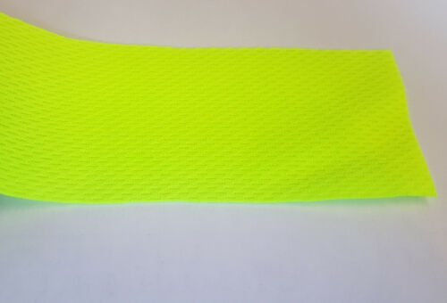 HIGH VIS YELLOW GREEN SAFETY SPEAKER FABRIC BE SEEN ORANGE ULTRA BRIGHT