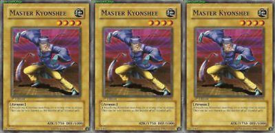 3x Yugioh SDZW-EN008 Master Kyonshee Common Card