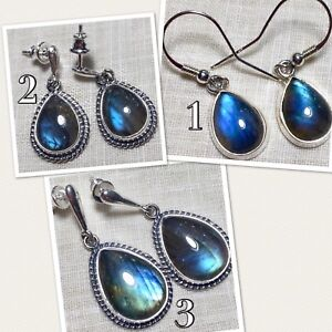 Image Is Loading Labradorite Earrings Sterling Silver Made In Poland Post