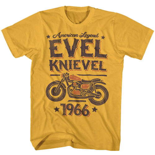 Evel Knievel Motorcycle Daredevil American Legend 1966 Adult T Shirt