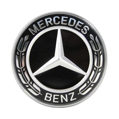 Original Mercedes-Benz Motorhaube Ersatz Stern Emblem Schwarz CL W215