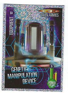 DOCTOR WHO ALIEN ARMIES-GLITTER FOIL G4 GENETIC MANIPULATION DEVICE MINT