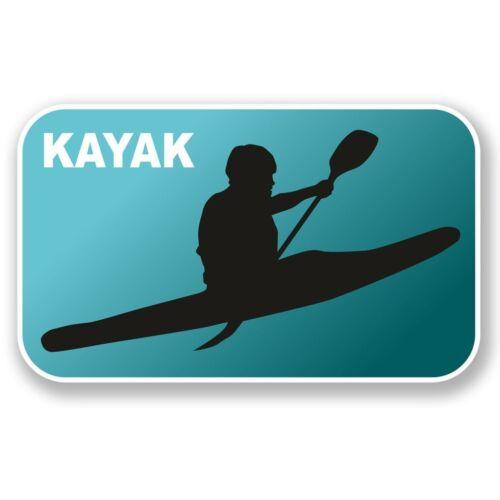 2 X Kayak Pegatina de vinilo Laptop Equipaje de Viaje Coche #6552