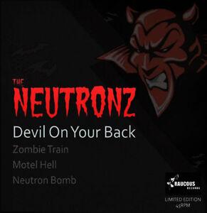 NEUTRONZ-Devil-On-Your-Back-7-EP-rockabilly-PINK-VINYL-psychobilly-vinyl-NEW