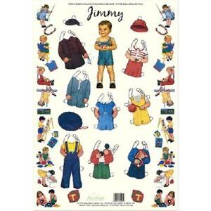Shackman Jimmy Queen Holden'S Nursery School Paper Doll & Clothes Set #Shk-35