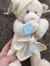 "10"" Baby Gund Nighty Night Plush Teddy Bear Key Wind Plays Brahms Lullaby 58002"