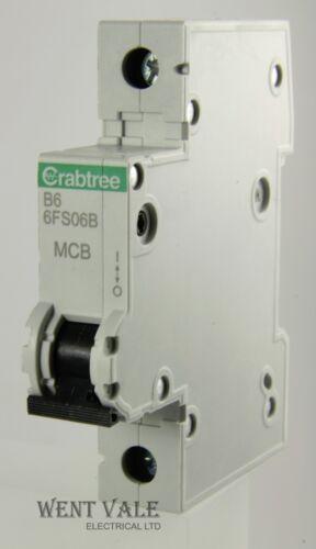6a type b simple pôle mcb dernier modèle utilisé 6FS06B Crabtree LOADSTAR