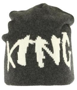7cb70655fae NEW DOLCE   GABBANA LUXURY GRAY 100% CASHMERE KING BEANIE HAT ONE ...