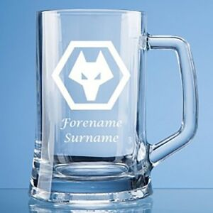 Wolverhampton Wanderers F.C - Personalised Large Plain Straight Sided Tankard (C