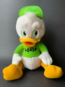 Disney-1986-Vintage-Duck-Tales-Louie-Plush-Green-Shirt-amp-Hat-TV-Show-Cartoons