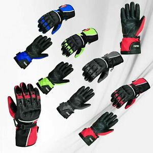 Mens-Motorbike-Motorcycle-Racing-Gloves-Cowhide-Real-Leather-Gloves-Armored-CE