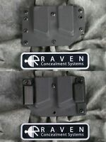 Left Hand Raven Glock 9 40 357 Double Magazine Md Cut Kydex Holster