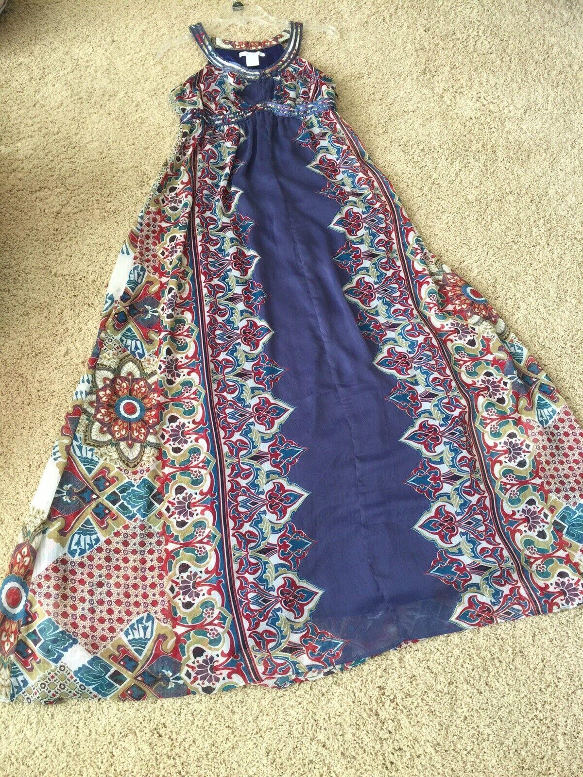 Women boho sleveless full lenght dress - image 5