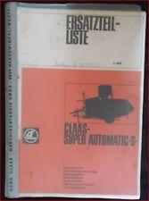 Claas Mähdrescher Super Automatic S Ersatzteilliste