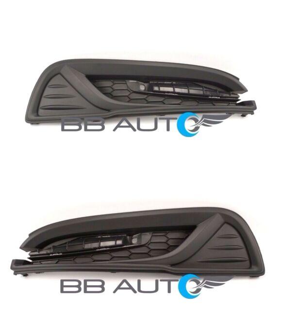 fits 2013-2015 CIVIC 4dr Sedan Front Bumper Lower Grille w// Chrome Trim PAIR 2PC