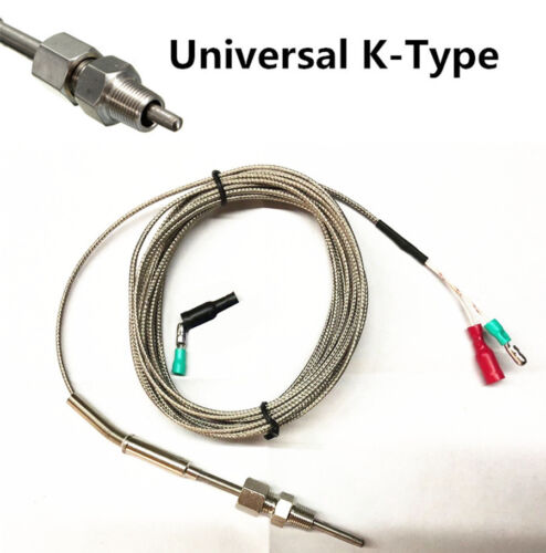 K-Type EGT 4mm Probe /& Cable Kit Thermocouple Car Exhaust Gas Temperature Sensor