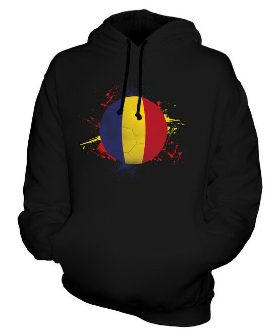 ROMANIA FOOTBALL UNISEX HOODIE TOP GIFT WORLD CUP SPORT