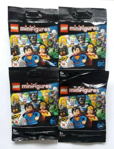 Lote 4x sin abrir paquetes Dc Super Héroes Minifiguras Lego Serie 71026