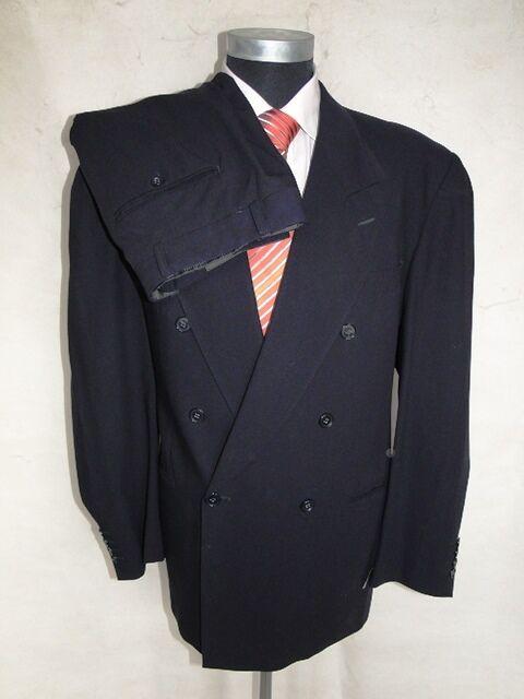 Pierre Cardin Anzug Paris Zweireiher Dunkelblau Unifarben Schurwolle Gr. 52  | Große Klassifizierung  | Neue Sorten werden eingeführt  | Üppiges Design