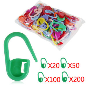 New-Mini-Knitting-Crochet-Locking-Stitch-Needle-Clip-Markers-Holder-Plastic