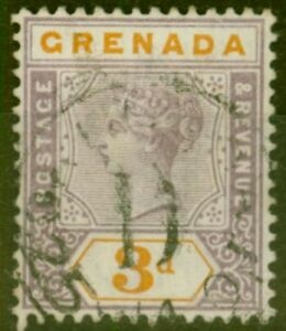 Grenade-1895-3D-Mauve-amp-Orange-SG52-Tres-Bien-Utilise