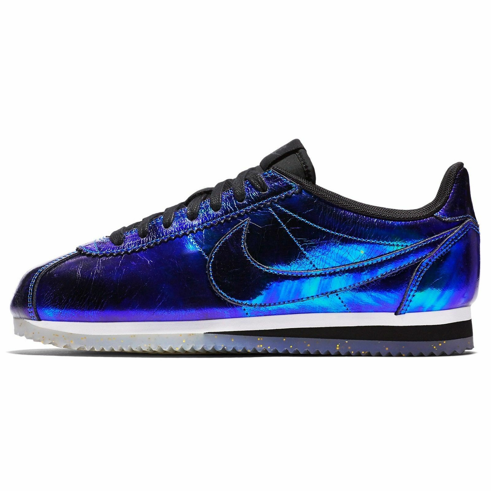 Nike Cortez Classic Leather SE Iridescent Soar White Black 902854-400 Wmn Sz 7 The latest discount shoes for men and women