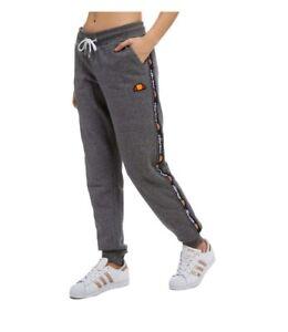 b7d3d7396910 Image is loading Ellesse-Heritage-Tape-Fleece-Track-Pants-Ladies-Size-