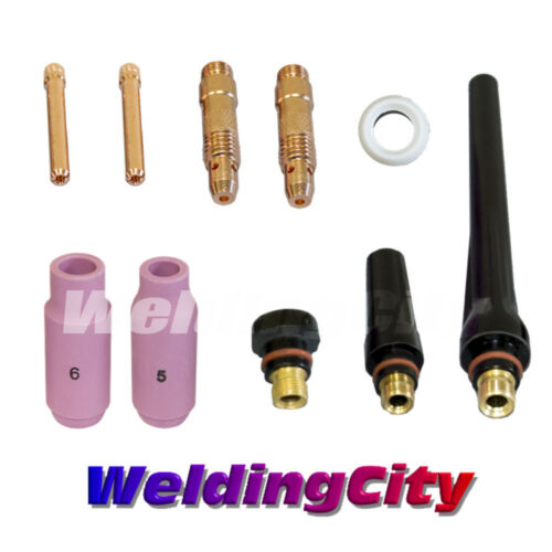 "TIG Welding Regular Setup Accessory Kit 3//32/"" Torch 17//18//26 T10US Seller"